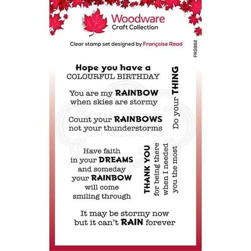 Colourful Greetings Woodware Clear Stamp (FRS862)
